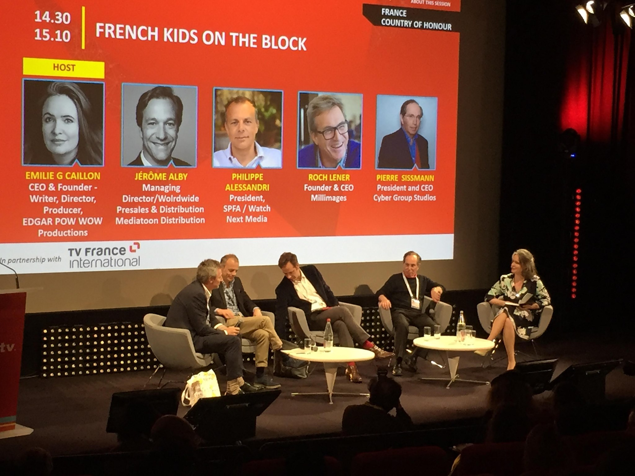 MipTV 2019 - France Country of Honour Animation + Fiction - Moderator MC